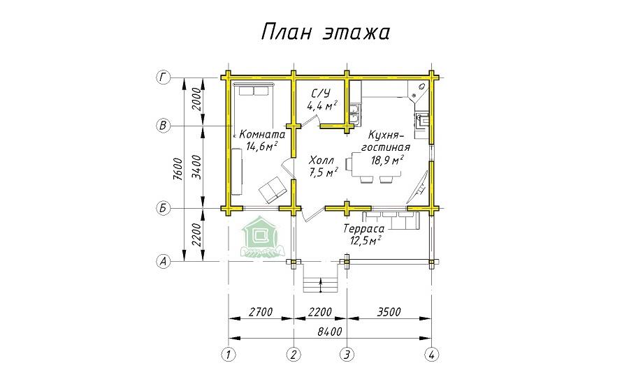 Дом 69 из оцилиндрованного бревна